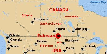 Estevan Canada Map Estevan Saskatchewan History Pages
